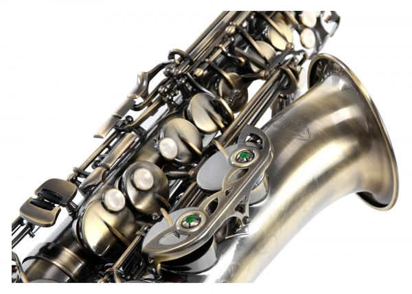 Es-Alt Saxophon Classic Cantabile AS450 in gelber Antikoptik - die preiswerte Alternative